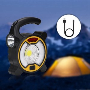Double Switch 4 Modes Outdoor Hiking And Camping Camping & Hiking Led Floodlight Portable Work Light Led Usb Rechargeable 18650 Flashl 8lem#