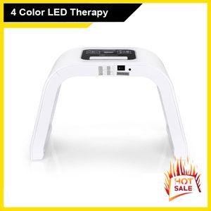 Luce PDT 4 colori LED Facial Mask Photon Cura della pelle macchina di bellezza PDT Terapia ringiovanimento della pelle Acne Remover Anti-rughe