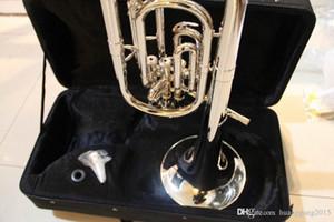 Bach Stradivarius doble plateado TR-190S plano profesional trompeta Musical superior de instrumentos de metal Bugle Bb 120218