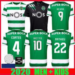 Sporting CP 20 21 Lisboa de Futebol Vietto COATES ACUNA casa longe 2,020 2,021 Sporting Clube de camisa de futebol maillot de pé tailândia