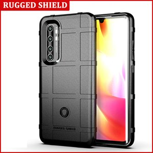 Anti-Slip Grid Armor Rugged Shield Phone Case for Xiaomi Note 10 Lite Soft Silicone Shockproof Cover