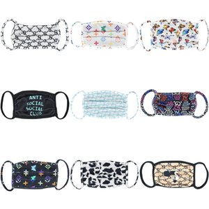Designer Printed Face Mask 'S Dust Masks For Boys And Girls Spring Summer Sunscreen Ice Silk Breathable Thin Section Anti-Fog #5#998#157