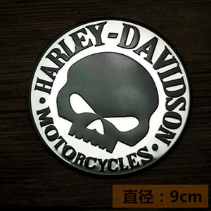 Harley motorcycle Skull Embroidery Patches Clothes Stickers Applique Flower-Rose-Skeleton Iron-On Metal modified body stickers 9pcs Lotd6