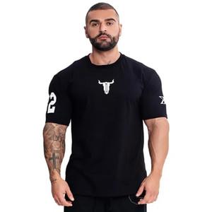 Summer new design Running Shirt Men Gym T Shirt Short Sleeve Dry Fit Bodybuilding Sport T-Shirt Fitness Tshirt Men Gyms Tees Tops Rashgard
