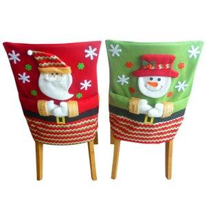 Cute Christmas Chair Cover Xmas Snowman Santa Claus Chair Cover for Christmas Decor Kid Gift Home Decor Ornaments