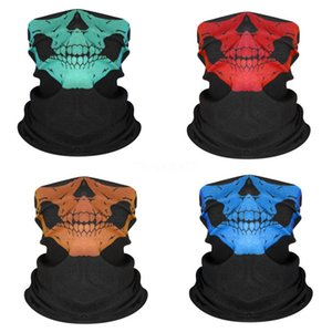 Magic Turban Outdoor Riding Sunscreen UV Protection Cold Ice Silk Turban Solid Color Camouflage Skull Scarf Suitable For Everybody#305