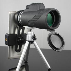 Hot 40x60 Leistungsstarke Fernglas Monokular Micro-Nachtsicht-Qualitäts-Zoom Große Hand Teleskop Sport Berufsjagd T190627