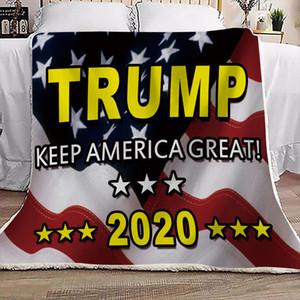 Doble gruesa capa Trump 2020 Keep America GRAN Impreso Manta manta Boutique cuadrado 130 * 150cm 2020 del presidente de la D73003