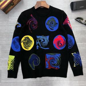 2020 свитера высокого качества Роскошные свитера вокруг шеи трикотажные свитера Классические цветы вскользь Верхняя одежда Мужские Женские Мода Knitweaters-96
