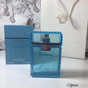 Profumo per gli uomini Eau Fraiche Woody acquatica 100ml 3.4Floz EDT Limone Frangrace Long Lasting Tempo odore bottiglia blu di alta qualità