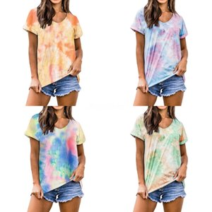 Brand Designer Women Runway Cotton T Shirts 2020 Summer Fashion Young Lady Round Neck Short Sleeve Print Oversized Casual Tee Tops#501