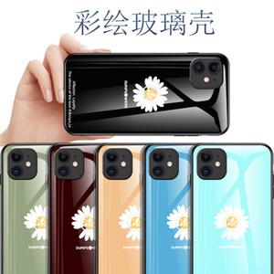 Für 11 iPhone Pro max iPhone 12 pro max Mode kreative kleine Daisy Xsmax XR 6 7 8 Plus SE absturzGlasSchutz-Telefonkasten