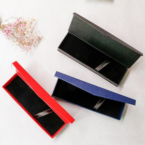 Red Blue Black Office Pen Display Packaging Boxes blank Gift Jewelry Packaging Box pen packing box paper case wholesale