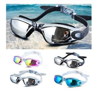 Electroplating UV Waterproof Anti fog Swimwear Eyewear Swim Diving Water Glasses Gafas Adjustable Swimming Goggles Women Men