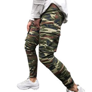 Mens calças de camuflagem corredores Jeans Sports Calças Casual Mens Jeans Pencil Pants Vestuário Masculino 2020