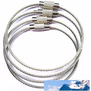 الفولاذ المقاوم للصدأ WireStainless الصلب Wirekey سلسلة بدائل سلاسل كابل المفتاح الدائري حلقة مفاتيح لالمشي لمسافات طويلة في الهواء الطلق