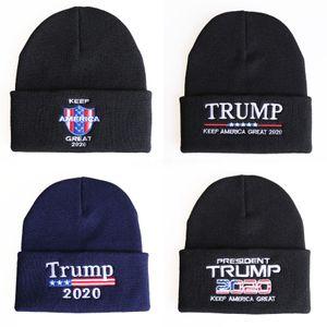 Trump camuflaje sombreros Donald Trump 2020 gorras de punto americanos Hats EEUU Camo Napback Deportes Playa Golf Cap # 511 # 306