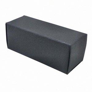 Box Pacote 50pcs Sólidos Papel Kraft Preto Embalagem Box papercard Frasco de perfume Partido Conselho Carton favores embalagem 4 tamanhos HWOk #