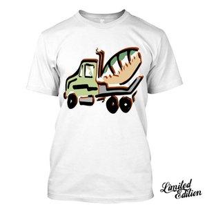 2020 Смешной Hot Truck Mixer I Love строитель Отец Муж Мода Футболка тройники майка