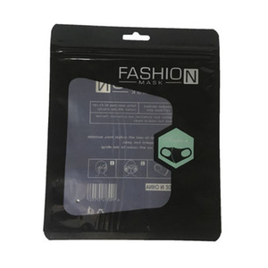 1000PCS 소매 포장 가방은 패션 마스크 15 * 19cm를위한 보호 OPP 가방 지퍼 파우치 지퍼 잠금 가방 포장 패키지 소매 상자 마스크