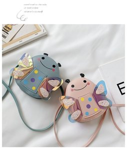 2020 Kids Cartoon Messenger Bags Girls Fashion Shoulder Bags New Designer Handbags Children Cartoon Bee Shiny Bag Child Fashion Coin Purse