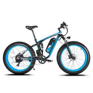 XF800 750W 48V 전기 자전거 전체 서스펜션 프레임을 업그레이드 Cyrusher 7 개 속도 도로 자전거 야외 스마트 속도계 Ebike를 widewheel