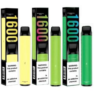 Puff XXL à usage unique Vape stylo pods Appareil Puff xxl 1000mAh 6.5ml 1600 bouffées de Kit cigarettes jetables e 10 couleurs