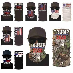 2020 Trump la mascarilla del estadounidense Elección de impresión a prueba de polvo máscaras de ciclo al aire mágico bufandas del pañuelo de la venda Diseñador Partido Máscaras CYZ2579