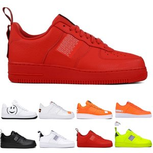 2020 hot sale New Classical All White black high cut men & women Sports casual Shoes forcing one running Shoes size 36-45