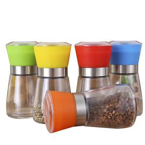 Cam Mills Kahve çekirdekleri Değirmenleri Döner Taşlama Manuel Abrader Eller Baharat Çeşni Şişeler Biber Organizatör Renkli 2 7xya C2