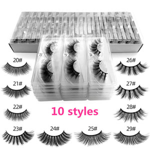 3D Mink Wimpern Individuelle Wimpern Extensions 3D Mink Lashes Privat Logo Individuelle Augenwimpern Verpackung Box Falsch Mink-Augen-Peitsche-Paket Boxes