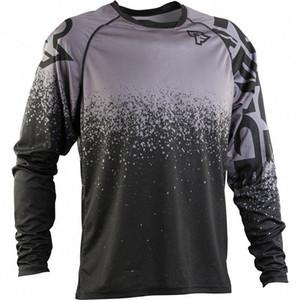 2020 2020 Nouveau Motocross Downhill manches longues Jerseys MTB DH Hommes DH MX Vêtements MTB Shirt Vélo de montagne Vélo de montagne X8MQ #