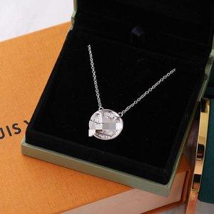 2020 Designer pendant rose gold color brandLouìs Vuìttõn necklace for women's retro collar costume jewelry with original box set