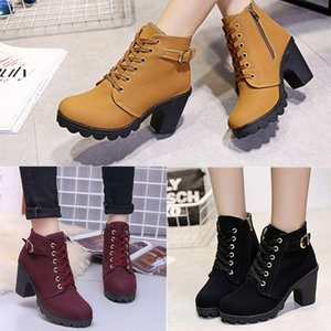 2020 Women shoes2019 new women's Designer shoes short boots women's Martin boots women's boots belt buckle thick with shoes women Sneakers