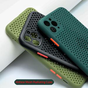 Mesh di dissipazione di calore di raffreddamento casse del telefono per iPhone XR 11 Custodia in silicone Pro XS Max X 7 8 Plus SE 2020 molle opaca