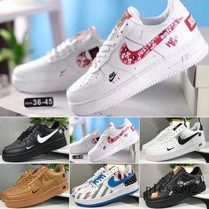 wholesale 2020 Top dunk 1 one running shoes for men women utility black white orange red JDI 1 basketball skateboarding off sports sneakers