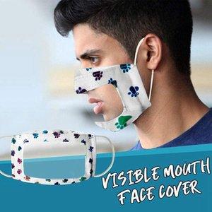 Deaf Mute Maske löschen Fenster sichtbare Ausdruck Mund Cover Outdoor Deaf Schwerhörigkeit Einstellbare Partei Masque DDA233