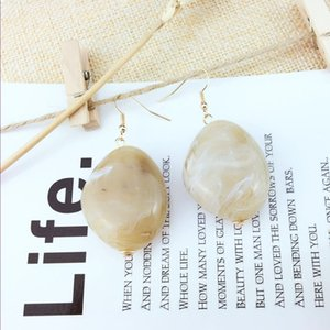 Wholesale 10 Pairs Gold Plated Irregular Shape Many Colors Quartz Stone Dangle Earrings for Women Fashion Jewelry