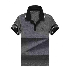 Hot Sales Shirt Luxury Design Male Summer Turn-Down Collar Short Sleeves Cotton Shirt Men Top