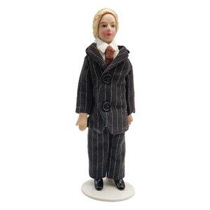 1:12 People Porcelain Man w  Suit for Dolls House Miniature