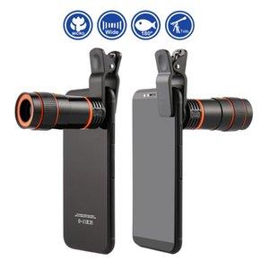 Digital Camera Phone Universal 8x / 12x Mini High Power Monóculos Lente Telefone Telefone telefoto lente da câmera e Clip para