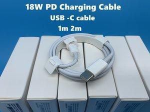 paketleme ile USB-C Core Telefon 11 Pro Max Data Kablosu C Tipi Hızlı Charge İçin Kablo USB C Şarj DHL'in 100pcs 18W PD