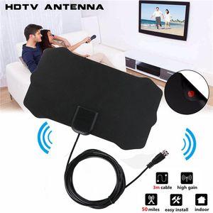1080P التلفزيون الرقمي هوائي داخلي استقبال الإشارات مكبر للصوت TV الشعاع تصفح فوكس انتينا HDTV هوائيات الجوي البسيطة DVB-T / T2