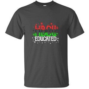 Ropa de punto hbcu Educado Negro graduado orgullo estudiante de postgrado de la camiseta ocasional del hombre famoso adulto camisetas de manga corta
