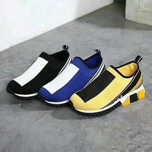 2018 Hot selling Newest Designer Women'S Men's Sneakers Sock casual shoes Yellow Women Shoes Blue Men sock shoes 36-45