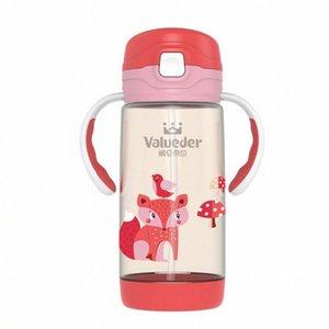 Wei Séoul PPSU enfants LUN Straw Cup Coupe double usage en plein air avec paille Portable enfants antifuite GHpz #