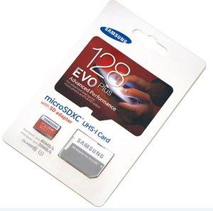 DHL shipping 8GB 16GB 32GB 64GB 128GB 256GB Samsung EVO+ Plus micro sd card Class10 smartphone TF card Tablet PC Storage card 80MB S