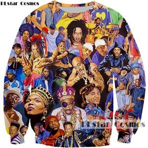 PLstar Cosmos 2019 neue Art und Weise 3d Sweatshirts Rapper Sänger Collage drucken Hoodies Biggie / 2pac Tupac lässige Pullover Sport CX200723