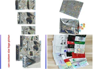 Us 78 Silver Star Laser Pet Holographic Cosmetic Bag Zip Lock Bag Shiny Foil Zipper Bag Food Candy Pouch Gif Bagsbag Freebags garden2010 XnA