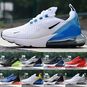Hohe Qualität 270 Männer Frauen Laufschuhe 2020 Designer Foto Blue Racer Blue Midnight Navy White Sliver 27C Outdoor Sneakers Größe 36-45